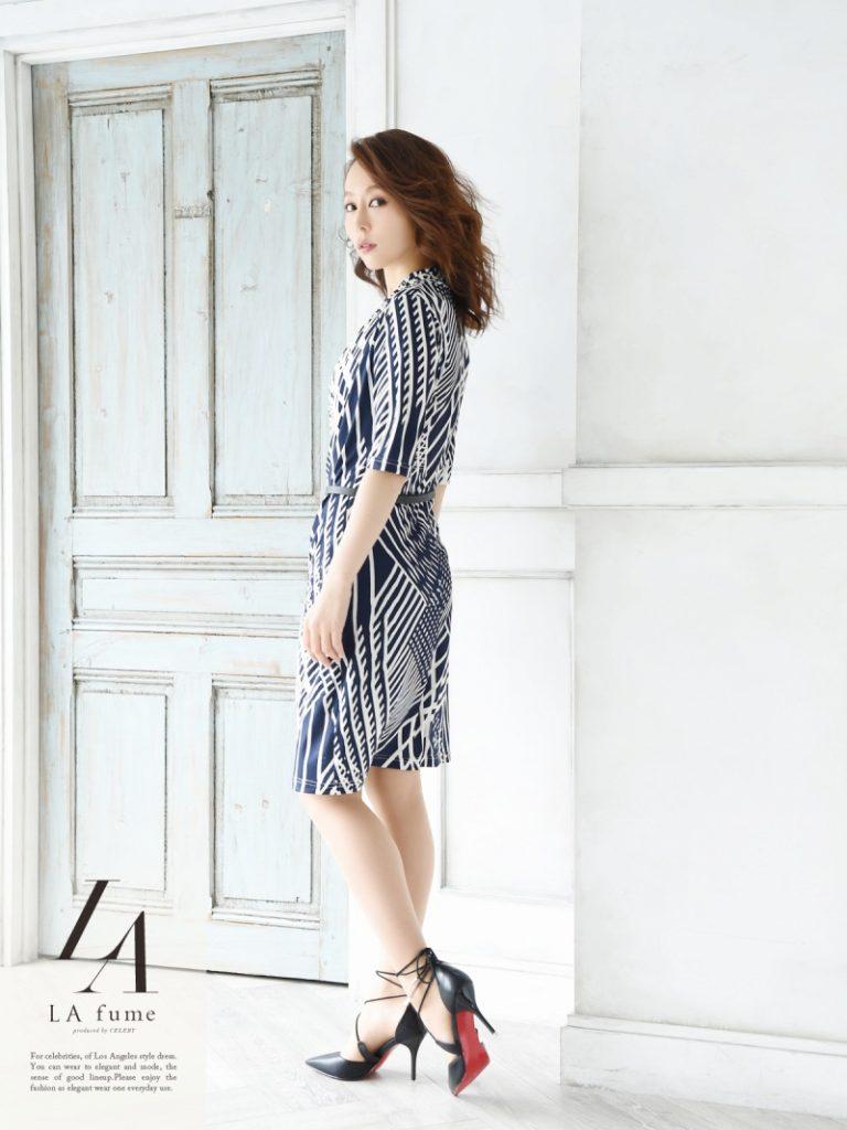 カシュクールワンピースドレス