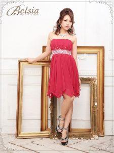 妖精フェアリーふわアシメシフォンキャバミニドレス