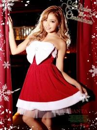 リボンフレアーサンタコスプレ クリスマス衣装